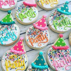 """1,309 Likes, 6 Comments - Hayleycakes And Cookies (@thehayleycakes) on Instagram: """"Let's party!! #hayleycakesandcookies #atxcookies #atxbakery #cookies #decoratedcookies…"""""""