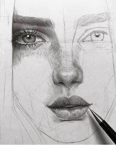 "5,995 Likes, 34 Comments - ArteVM (@artevm) on Instagram: ""Amazing Art by: @lesya_poplavskaya ____________________________ Drawing in progress #sketch #eye…"""