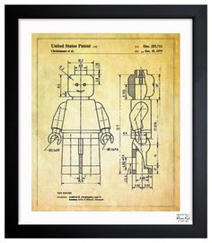 ''Lego Toy Figure 1979' via houzz #Print #Blueprint #Lego