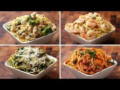 Try these new, exciting, and delicious ways to make spaghetti. Twirl your fork into one of these Twisted creamy spaghetti recipes that will please every past. Easy Salmon Recipes, Pasta Recipes, Chicken Recipes, Dinner Recipes, Cooking Recipes, Healthy Recipes, Lunch Recipes, Cooking Food, Pasta Alfredo Con Pollo