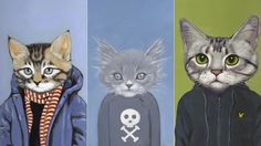 cats in clothes!