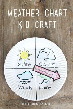 Make this cute Weather Chart Kid Craft...to keep track of our weather. Paper plate craft for kids