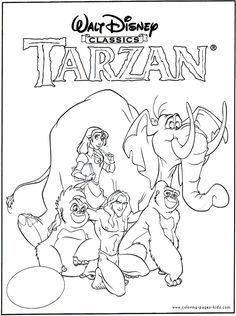 Tarzan color page, disney coloring pages, color plate, coloring sheet,printable coloring picture