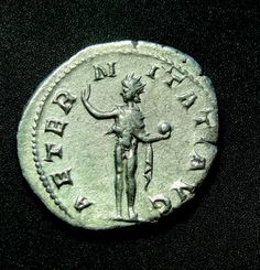 SOL INVICTUS Gordian Double Denarius XF Very rare Silver Roman Coin 4.52Grams