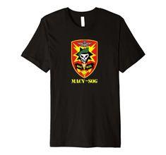 MACV-SOG Army Unit Patch Full Color Vietnam Veteran Premium T-Shirt Infantry Style