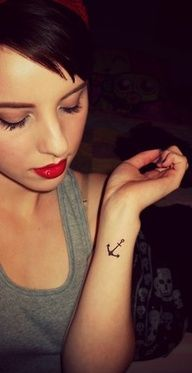 SEE MORE SMALL ANCHOR TATTOO ON ARM