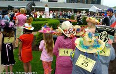 Derby hat contest....give prizes for biggest, prettiest, most outrageous, most colorful, etc.