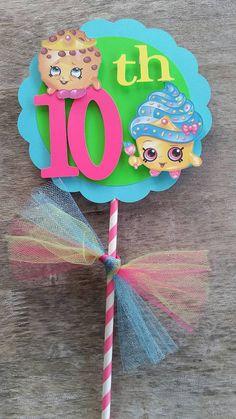 Shopkins cake topper  shopkins birthday party by SilviasPartyDecor