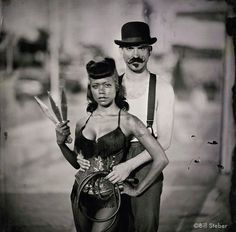donny and heather. side show performers. coney island. photo by bill steber.  awesome