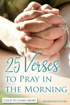 Proverbs 31 woman bible verse/saying/ words:Praying Scripture back to God refocuses my heart as the day begins. Here are 25 Scriptures to pray in the morning. Prayer For Guidance, Power Of Prayer, My Prayer, Prayer Room, Daily Prayer, Prayer Ideas, Prayer List, Prayer Wall, Bible Prayers