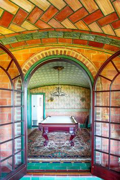 The Tile House, Bay Shore, NY.  The ground floor has herringbone tile ceilings, which support the second floor (Guastavino's tile system is not just decorative, but weight-bearing).