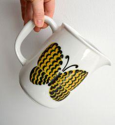 vintage mid century Arabia of Finland butterfly pitcher by Kaj Franck