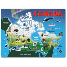 Canada Map Puzzle by Melissa and Doug | eBeanstalk