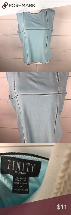 Finity Women's Plus Size Sleeveless top sz 1X Finity Women's Plus Size Sleeveless top sz 1X Finity Tops Blouses