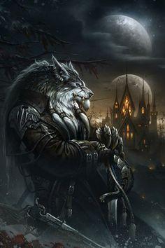 World of Warcraft art.worgen over Gilneas. Dark Fantasy, Fantasy World, Final Fantasy, Art Warcraft, World Of Warcraft, Fantasy Warrior, Warrior Girl, Werewolf Art, Werewolf Tattoo