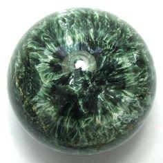 Seraphinite Sphere Ball Russia Siberia Rare Angel Stone 2.2 56mm 8.4oz 238g via Etsy