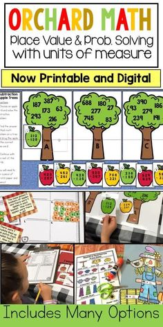 This activity pack includes 9  hands-on, math activities for students help reinforce addition and subtractions with regrouping, rounding to the nearest ten and nearest hundred, grams, kilograms, elapsed time, linear measurement, multiplication and problem solving. Great hands on/engaging support for programs like Engage NY and Eureka Math (aligns perfectly with Eureka and Engage NY grade 3 module 2). Math Place Value, Place Values, Multiplication Facts, Math Facts, Math Resources, Math Activities, Math Fact Practice, Engage Ny, Eureka Math