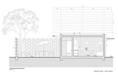 Arquitectural drawing. Regional Housing, Veracruz, Mexico. Project by Miquel Adrià with Iván Valero (Bandada Studio).