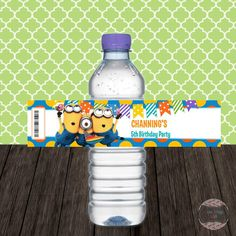Personalized Water Bottle Label  Do-It-Yourself by onestopkids
