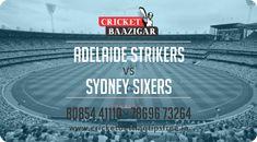 Cricket Baazigar Provide 100% Expert Cricket Match Prediction and Cricket Baazigar Betting Tips Adelaide Strikers vs Sydney Sixers. #TodayMatchPrediction #CricketBettingTips #dream11 #ballebaazi #fantasycricket #baazigar