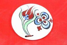 Lale ve Çintemani Desenli Çini Takı El İşi Seramik Magnet