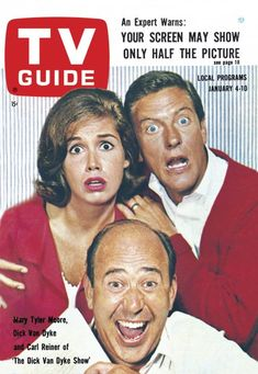 TV Guide January 4, 1964 (Mary Tyler Moore, Dick Van Dyke and Carl Reiner of The Dick Can Dyke Show)