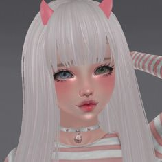 Baby Pink Aesthetic, Aesthetic Art, Aesthetic Pictures, Aesthetic Anime, Cute Anime Chibi, Cute Anime Pics, Cool Anime Girl, Anime Art Girl, Virtual Girl