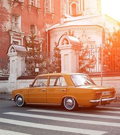 orange car #retro