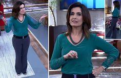 Look da Fátima Bernardes no Encontro dia 14 de abril