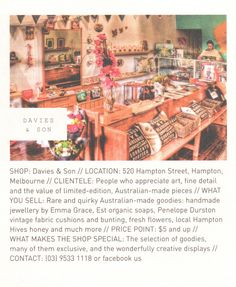 Davies & Son // Australian made art, prints and gifts full of personality Frankie Magazine, Organic Soap, Cushion Fabric, Make Art, The Hamptons, Melbourne, Personality, Places To Visit, Art Prints