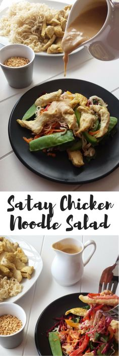 Satay Chicken Noodle Salad Recipe + WIN - Move Love Eat - Health and Fitness Blogger