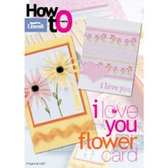I Love You Flower Card-