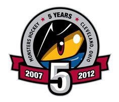 Lake Erie Monsters 5 Year Anniversary Logo