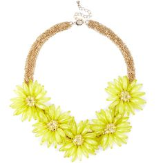 Sole Society Oversized floral necklace (€26) ❤ liked on Polyvore featuring jewelry, necklaces, accessories, citrine, oversized jewelry, beading jewelry, bead necklace, oversized necklace and floral statement necklace