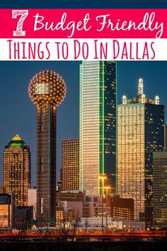 Heading to Dallas soon? Don& blow your budget on entertainment! These 7 Budget Friendly Things to Do in Dallas will keep you entertained on the cheap! The Places Youll Go, Places Around The World, Places To Go, Texas Travel, Travel Usa, Dallas Travel, Visit Dallas, Dallas Texas, Places To Travel