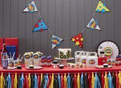 déco anniversaire super héros super hero party