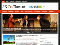 ProTheatre is a Resposive WordPress theme that comes with widgets, extensive theme options, an automatically updating slideshow . The future-proof design will