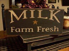 Milk Farm Fresh Milk Sign Fresh Milk Sign by DaisyPatchPrimitives, $14.00