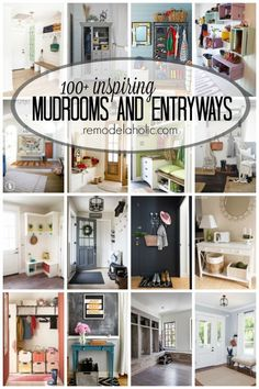 Create an entryway you love with these 100+ Inspiring Mudrooms and Entryways at Remodelaholic.com