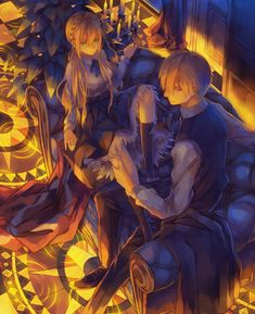 IzILIer, Fate/stay night, Saber Arturia Pendragon, Gilgamesh, Looking Back…