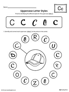 Finding And Connecting Letters Letter G Worksheet  Worksheets