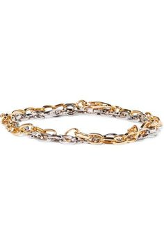 Kenneth Jay Lane - Gold And Silver-tone Anklets