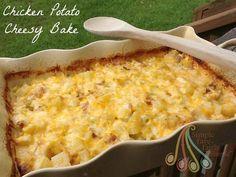 Simple Fare, Fairly Simple: Chicken Potato Cheesy Bake