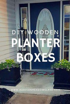 DIY Wooden Planter Boxes Tutorial