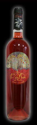 """2 ª Etiqueta de vino para  Bodegas Faelo.   L´ Alba de Faelo. Rosado. De la obra original de Antonia Soler titulada: """" Orbe I """""""