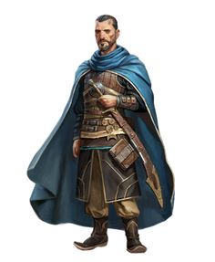 Male Human Fighter Rogue - Pathfinder PFRPG DND D&D 3.5 5th ed d20 fantasy