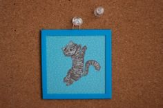 Wall frame cat picture by SunnyToys on Etsy, $6.00