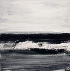 John Virtue, Norfolk No. 63 . Acrylic, black ink and shellac on canvas