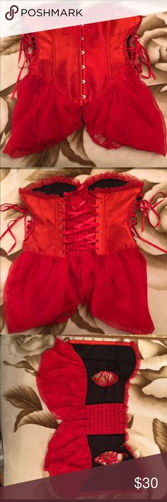 Red Lace Corset I am selling my New Red Lace Corset. No tags but never worn. From a smoke free home. Thank you! Other