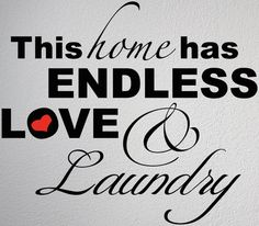 This Home Has Endless Love and Laundry Die Cut Sticker 9 75 x 11 25 House Decor   eBay